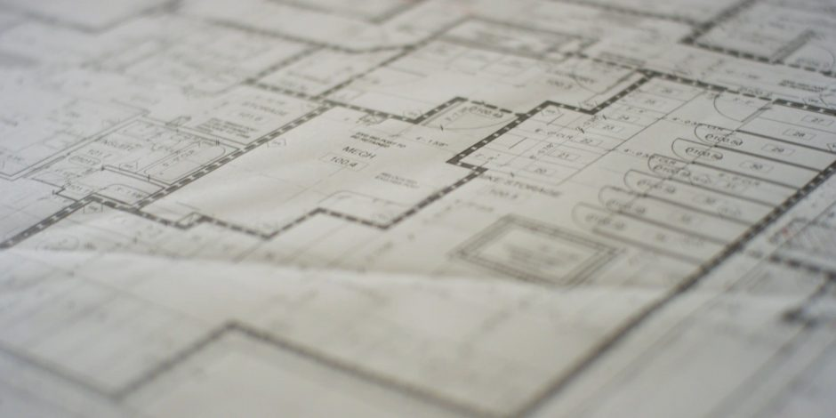 Image of a blueprint.